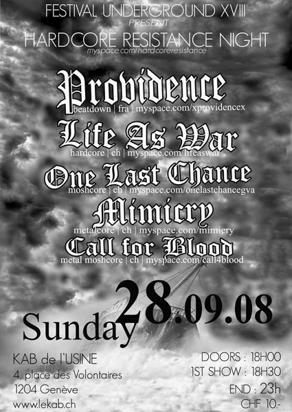 life as war,providence,one last chance