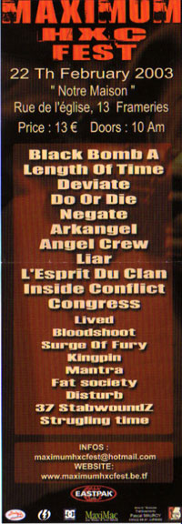 length of time,negate,do or die,deviate,arkangel,liar,angel cew,l