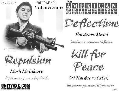 deflectime,kill for peace,repulsion