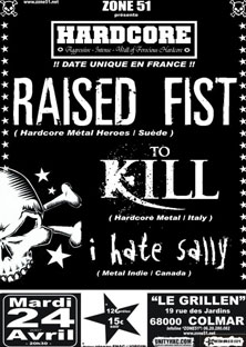 raised fist,to kill