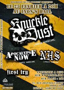knuckledust,apocalypse now,first try