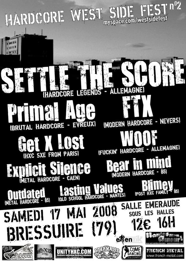settle the score,primal age,ftx,get lost,woof,explicit silence