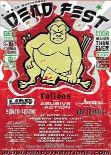caliban,100 demons,arkangel,liar,sworn enemy,st hood,parkway drive,kickback,ad arma,do or die,dead reprise