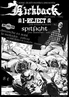 spitfight,kickback,i reject
