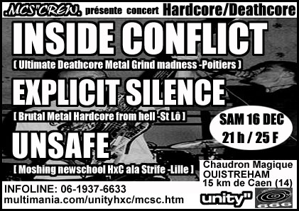 unsafe,explicit silence,inside conflict
