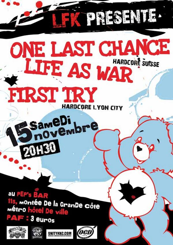 one last chance,life as war