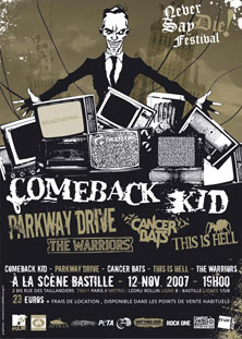 comeback kid,parkway drive,the warriors,this is hell,cancer bats
