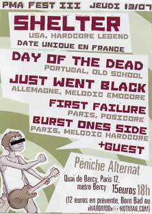 shelter,just went black,first failure,day of the dead