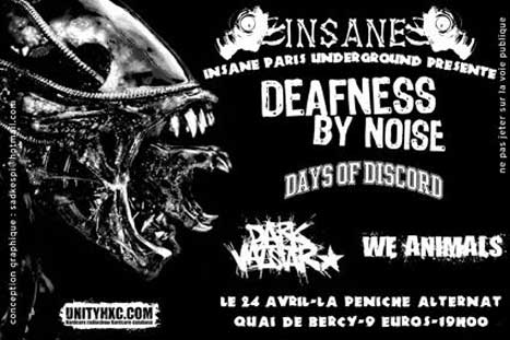 days of discord,deafness by noise