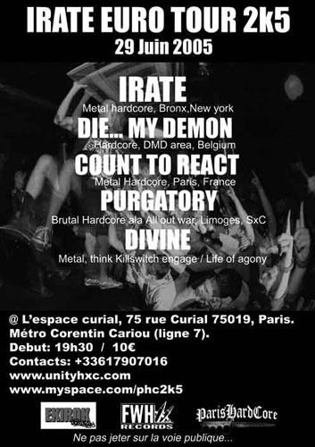 irate,die my demon,purgatory,divine,count to react