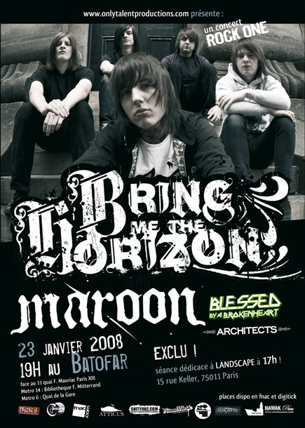Worldwide HxC flyers : Bring Me The Horizon, Maroon