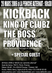 kickback,the boss,providence,king of clubz