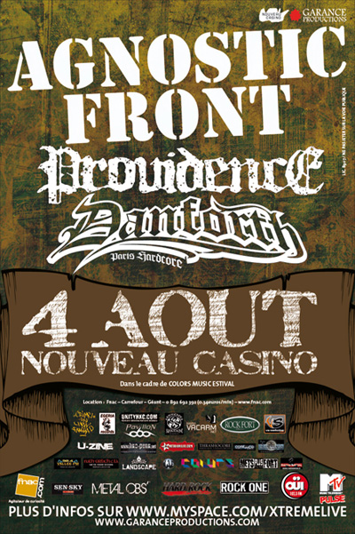 agnostic front,lionheart,providence