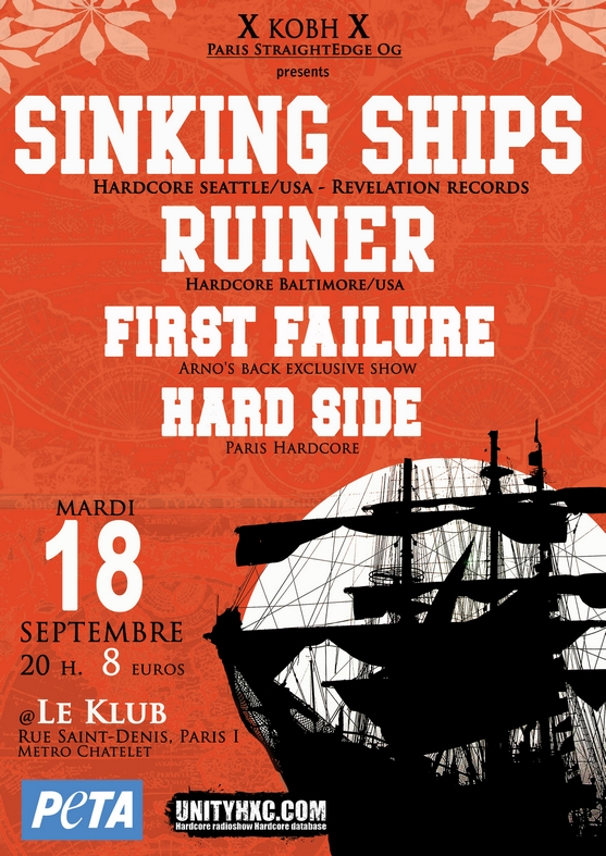 sinking ships,first failure,ruiner,hardside